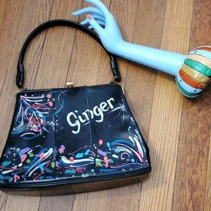Vintage handpainted bag